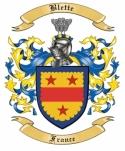 Blette Family Crest from France