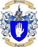 Bleuman Family Crest from England