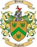 Blewett Family Crest from England