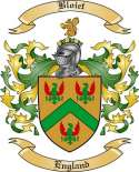 Bloiet Family Crest from England