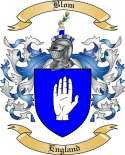 Blom Family Crest from England