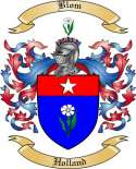 Blom Family Crest from Holland