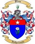 Blom Family Crest from Netherlands