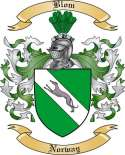 Blom Family Crest from Norway
