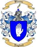 Bloome Family Crest from England