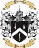 Blouddyn Family Crest from Scotland