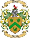 Blouet Family Crest from England