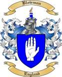 Blowman Family Crest from England