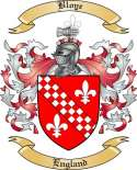 Bloye Family Crest from England