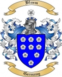 Bluem Family Crest from Germany