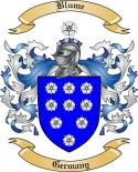 Blume Family Crest from Germany