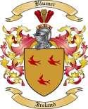 Blumer Family Crest from Ireland