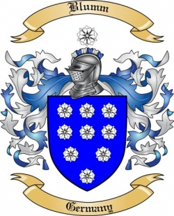 Blumm Family Crest from Germany