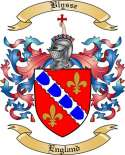 Blysse Family Crest from England