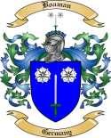 Boaman Family Crest from Germany