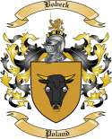 Bobeck Family Crest from Poland