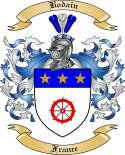 Bodain Family Crest from France