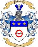 Boddains Family Crest from France