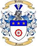 Boddin Family Crest from France