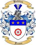 Boddins Family Crest from France