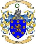 Boen Family Crest from Wales