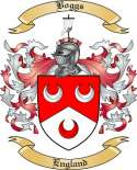 Boggs Family Crest from England