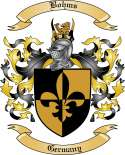 Bohms Family Crest from Germany