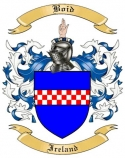 Boid Family Crest from Ireland