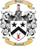 Boiges Family Crest from Scotland