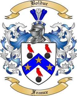 Bolduc Family Coat of Arms from France