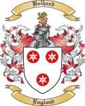 Bolhard Family Crest from England