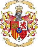 Bolin Family Crest from Spain