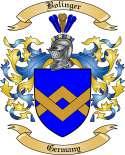 Bolinger Family Crest from Germany