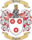 Bollard Family Crest from England