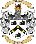 Bolles Family Crest from England