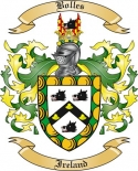 Bolles Family Crest from Ireland