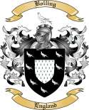 Bolling Family Crest from England