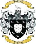 Bollinge Family Crest from England