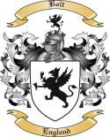 Bolt Family Crest from England