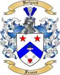 Bolyard Family Crest from France