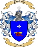 Bombarde Family Crest from France