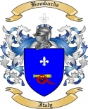 Bombarde Family Crest from Italy