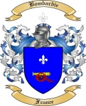 Bombardie Family Crest from France