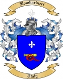Bombardieri Family Crest from Italy