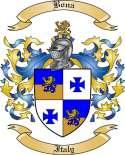 Bona Family Crest from Italy