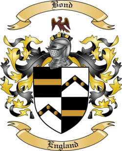 bond family crest from england by the tree maker