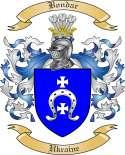 Bondar Family Crest from Ukraine