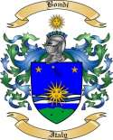 Bondi Family Crest from Italy
