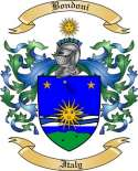 Bondoni Family Crest from Italy