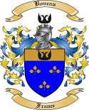 Boneau Family Crest from France